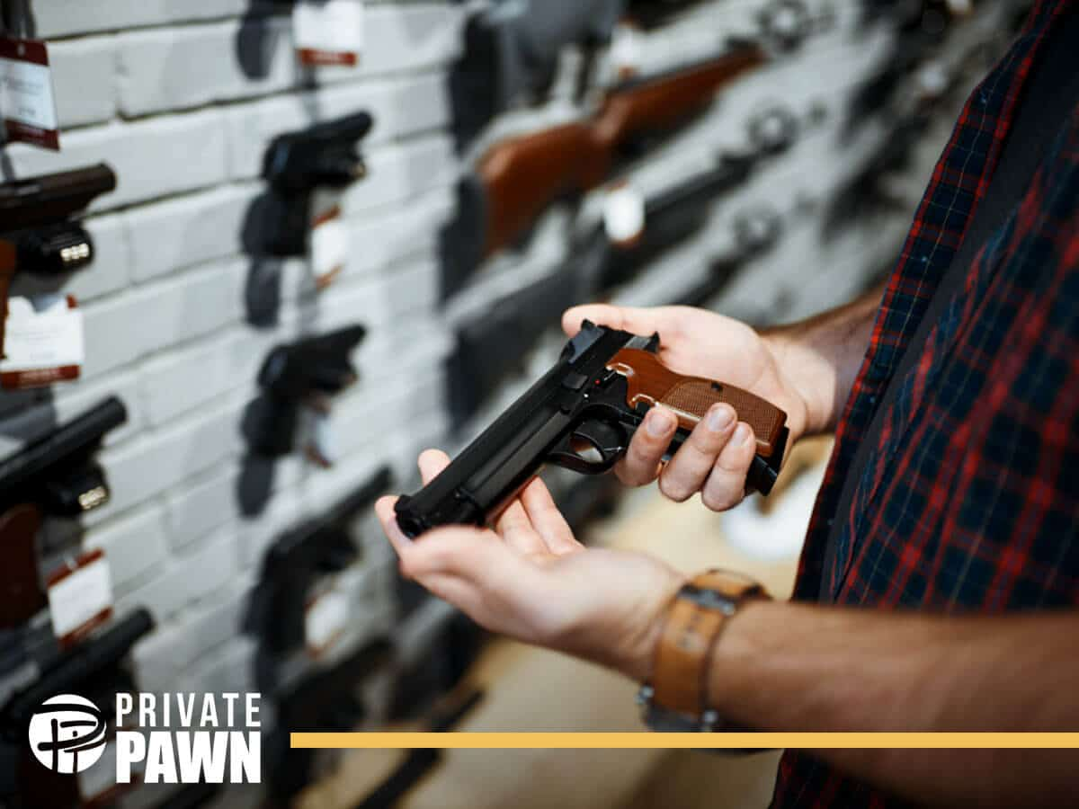 Man Pawning a Gun In a Reliable & Private Pawn Shop In Mesa, AZ